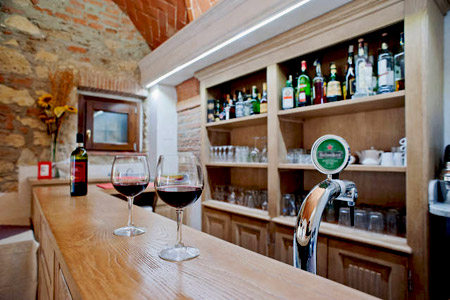 Bar and Restaurant of the farmhouse Gli Olmi, Cecina Tuscany